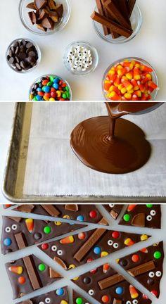 Schokolade ganz einfach zu lustiger Monster Schokolade machen - nicht nur für Halloween *** Easy DIY Monster Chocolate for Halloween or any Kids Birthday Party