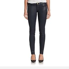 """Current/Elliott The Ankle Skinny Jeans NWT Current/Elliott The Ankle Skinny Jeans, size 26, NWT, never been worn. Rise 8.5"""". Cotton/elastane. Coated, second-skin skinnies. Current/Elliott Jeans Skinny"""