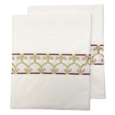 Hamburg House Marrakesh Embroidery 275 Thread Count 100% Cotton Pillowcase Size: King Percale Sheets, Linen Sheets, 100 Cotton Sheets, Cotton Sheet Sets, King Size Sheets, Best Sheets, Luxury Sheets, Marrakesh