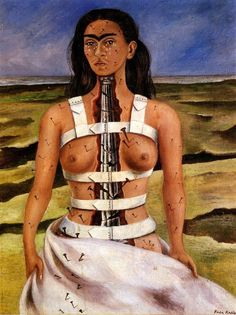 'The Broken Column', 1944. Painting by Frida Kahlo. °