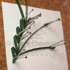 Making foliage (husking), step 3