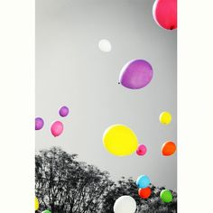 floating balloons #color
