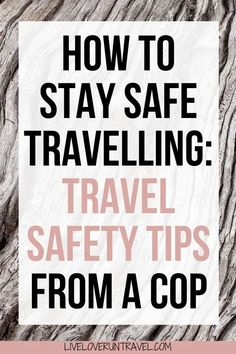 How to Stay Safe Traveling: Top Travel Safety Tips from a Cop Travel safety tips from a police officer to keep you safe when traveling. Includes tips on how to avoid being pickpocketed, robbed, or worse. Solo Travel Tips, Packing Tips For Travel, Travel Advice, Travel Essentials, Budget Travel, Travel Hacks, Travelling Tips, Travel Ideas, Travel Inspiration