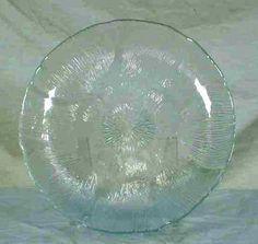 Arcoroc Glass Fleru Pattern Salad Plate France Clear Glass #ArcorocGlass