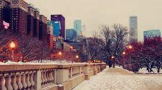 Зимний Чикаго, США