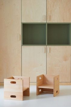 Paint a section of recessed storage as a unique focal point. Love the use of olive green here. Very on-trend too.