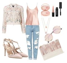 """Untitled #170"" by ysmnfashion on Polyvore featuring Topshop, La Perla, Needle & Thread, Clare V., Valentino, By Terry, MAC Cosmetics, Bobbi Brown Cosmetics, Michael Kors and Sunday Somewhere"