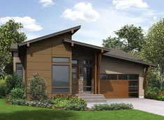 4 Bed Modern House Plan with Lower Level - 23621JD thumb - 01