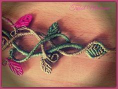 Macrame bracelet: elven fantasy, faery, celtic, elfic, fairy... https://www.etsy.com/es/shop/TribalMacrame https://www.facebook.com/tribalmacrame