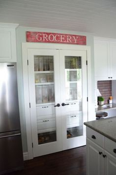 Sharing our new DIY Kitchen Pantry Space. Added some new shelves and organization to our home.