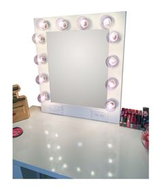 The Hollywood Vanity Makeup Mirror- Matte White Hollywood Vanity Mirror, Vanity Mirrors, Hollywood Fashion, Hollywood Style, Custom Vanity, Black Mirror, Diy Makeup, Girls Dream, Diy Hairstyles