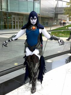 Injustice Raven cosplay... I would wear a black bodysuit instead