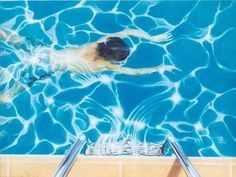 David Hockney is an artist that loved his swimming pool so much that he turned it into a piece of art himself. Hockney Swimming Pool, David Hockney Pool, David Hockney Art, David Hockney Paintings, Cultura Pop, Contemporary Artists, Modern Art, Pop Art, Pool Paint