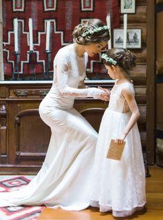 Wedding Dress: Claire Pettibone - http://www.stylemepretty.com/portfolio/claire-pettibone Photography: ANA NYC - http://www.stylemepretty.com/portfolio/ana-nyc Read More on SMP: http://www.stylemepretty.com/california-weddings/2014/09/11/romance-in-the-redwoods/