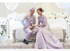 Songket wedding dress. Malay wedding dress.