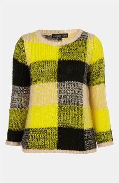 ++ neon plaid sweater