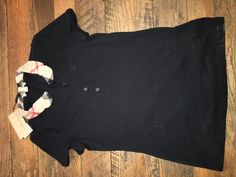 $  65.00 (38 Bids)End Date: Apr-17 06:10Bid now  |  Add to watch listBuy this on eBay (Category:Women's Clothing)... Check more at http://salesshoppinguk.com/2017/04/16/nwt-burberry-brit-womens-black-polo-shirt-w-ruffled-plaid-collar-size-small/