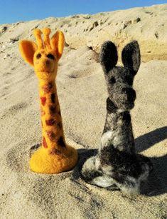 GfK-WoGi 11 Wolf, Giraffe, Animals, Display Window, Figurines, Animais, Animales, Animaux, Wolves