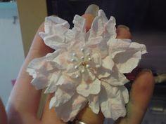 Crafty Loops: Shabby Rose Flower Tutorial - Using Tim Holtz Tattered Florals Die