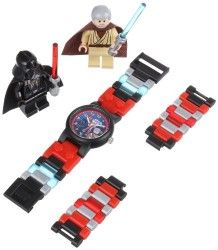 "LEGO Kids' ""9001192"" Star Wars Darth Vader vs. Obi-Wan Kenobi  Multicolor-Plastic Bracelet Watch With Two Minifigures - http://www.perrunarkrogsater.com/lego-kids-9001192-star-wars-darth-vader-vs-obi-wan-kenobi-multicolor-plastic-bracelet-watch-with-two-minifigures/"