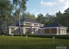 House with attic in modern style with usable area House with a large garage. Minimum size of a plot needed for building a house is m. Dormer Roof, Modern Bungalow House, Dream House Plans, Exterior Colors, Home Projects, My House, Building A House, Shed, Outdoor Structures