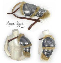 Assasins Cred, Vikings, Viking Cosplay, Dik Dik, Larp Armor, Armadura Medieval, Shoulder Armor, Game Costumes, Fantasy Armor