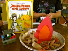 Activities to do with the book Amelia Bedelia Goes Camping. A fun summer reading activity with the Summer Love Books Exchange.