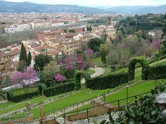 Florence-Tuinen van Giardino Bardini.
