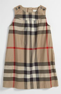 Burberry Check Print Dress (Little Girls) available at Nordstrom   LOVE this on C. Perfect birthday dress!    # Pinterest++ for iPad #
