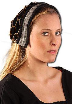 Haube mit Haarnetz, schwarz von Leonardo Carbone