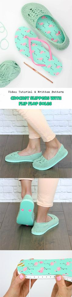 Crochet Slippers With Flip Flop Soles