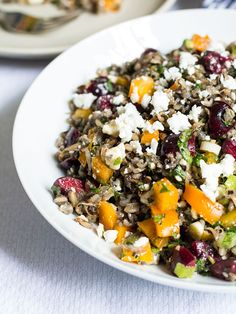 Wild Rice Salad with Cherries, Mint and Feta | (Cooking for) Kiwi & Bean