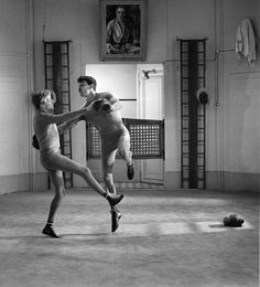 Oskar Werner and Henri Serre by Raymond Cauchetier in Jules et Jim, directed by François Truffaut, 1962 Shall We Dance, Lets Dance, Jules Et Jim, Jim French, New Wave Cinema, Francois Truffaut, French New Wave, Jean Luc Godard, Movies