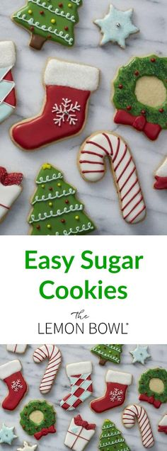 A Christmas cookie classic, these adorable sugar cookie cutouts are perfect for holiday entertaining, homemade edible gifts or leaving our for Santa. #christmascookies #cookies #cookiedecorating #sugarcookies