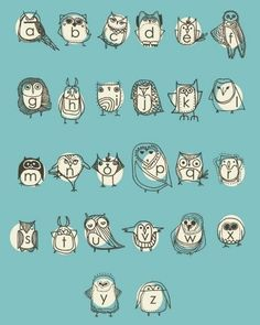 owlphabet; feel like my classroom will be littered with owls (and I love it)