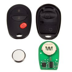 3B Keyless Entry Remote Car Fob Transponder Chip + Uncut Ignition Key for Toyota