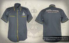Baju Seragam Reserse Polda Jateng [Jawa Tengah - Indonesia] by @mokokonveksi  Kemeja seragam yang memadukan desain klasik dengan sentuhan aksen warna kontras dan detail bordir yang elegan.