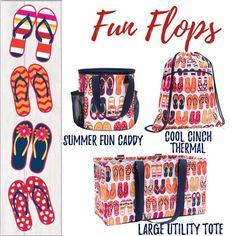 Thirty-One Summer Style....Fun Flops!! www.AnchoredBagsBySarah.com