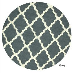 Hand-hooked Alexa Moroccan Trellis Wool Rug (6' Round)