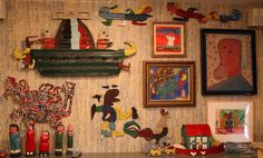 Audrey Heckler's apartment, NY. A showcase for her collection of outsider art.