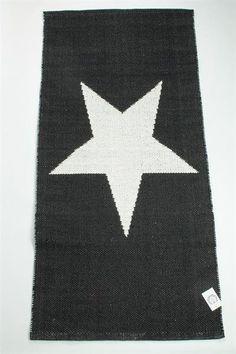 La Finesse Vloerkleed katoen met 1 grote ster, zwart of wit
