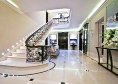 Staircase designs,remodeling,decor and ideas Staircase Interior Design, Home Stairs Design, Home Room Design, Dream Home Design, Luxury Interior Design, Village House Design, House Design Pictures, Bungalow House Plans, Mansion Interior