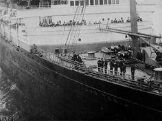 Lusitania's bow