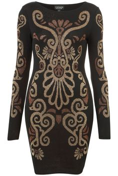 KNITTED BAROQUE BODYCON DRESS