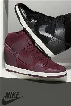 Burgundy Nike Wedge