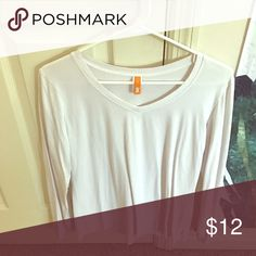 Lucy Activewear Long Sleeve V Neck White long sleeve workout top. Same as the Gray and magenta ones that I have listed! Lucy Tops Tees - Long Sleeve