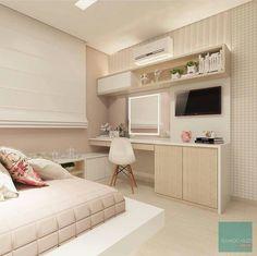 26 Stunning Workspace Bedroom Design And Decor Ideas - Home Bestiest Cute Bedroom Ideas, Cute Room Decor, Girl Bedroom Designs, Girls Bedroom, Bedrooms, Dream Rooms, Dream Bedroom, Home Bedroom, Bedroom Decor