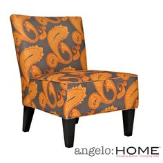 Everyone will fight over who gets the right to sit in this funky armless chair from angelo:HOME. The bright paisley pattern, sturdy hardwood frame, and thick polyester fiber filling make this chair the most desirable one in the house.