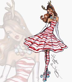 Hayden Williams Fashion Illustrations: 'Peppermint Perfection' by Hayden Williams