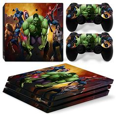 GoldenDeal PS4 Pro Skin and DualShock 4 Skin - Super Hero - PlayStation 4 Pro Vinyl Sticker for Console and Controller Skin